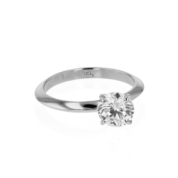 Side Round Ring White Gold | Sarah & Sebastian