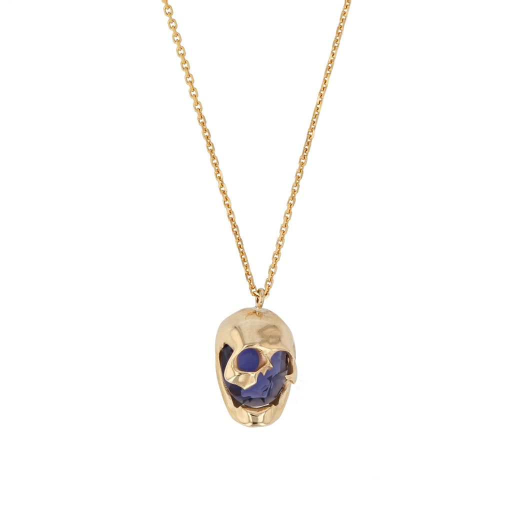 Skull Necklace Indigo