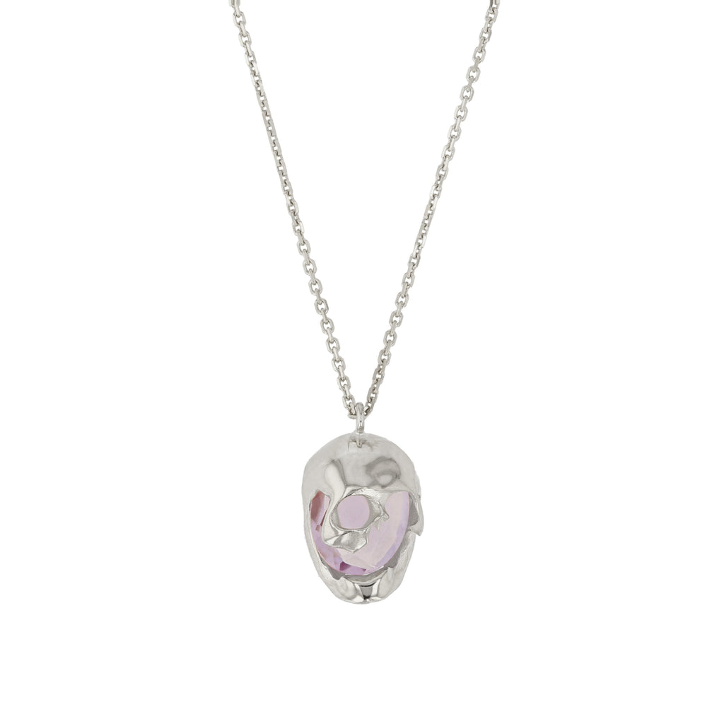 Skull Necklace Lilac