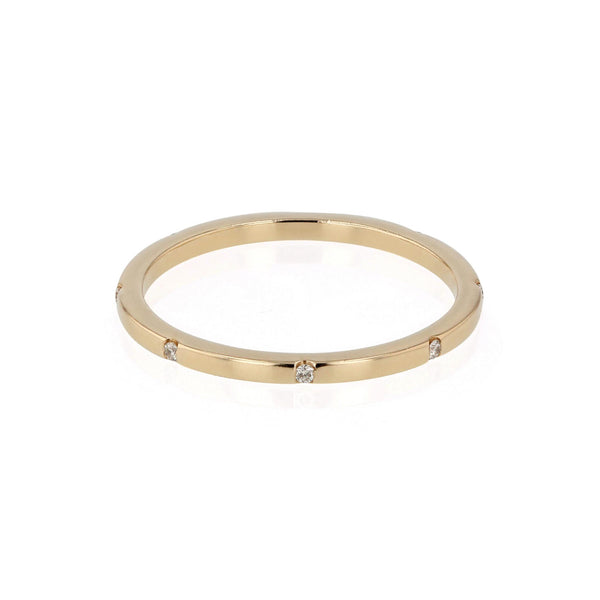 Square 08 Ring Yellow Gold | SARAH & SEBASTIAN