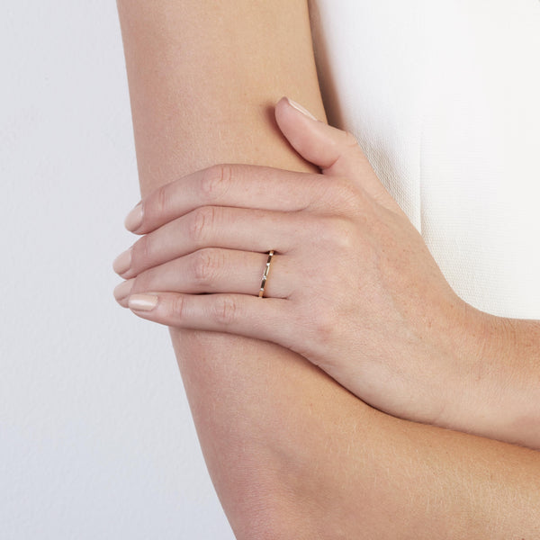 Square 12 Ring Yellow Gold | SARAH & SEBASTIAN  hoverimage