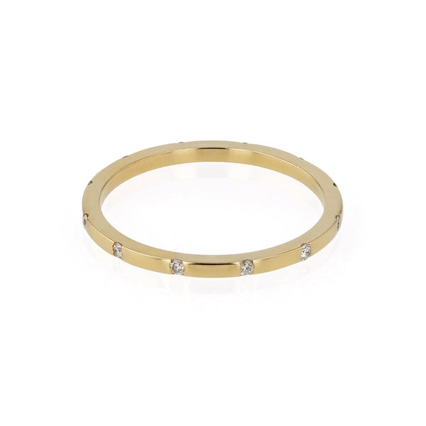 Square 12 Ring Yellow Gold | SARAH & SEBASTIAN