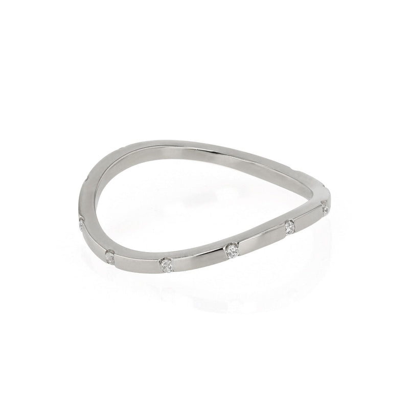 Square Curve 12 Ring White Gold | SARAH & SEBASTIAN