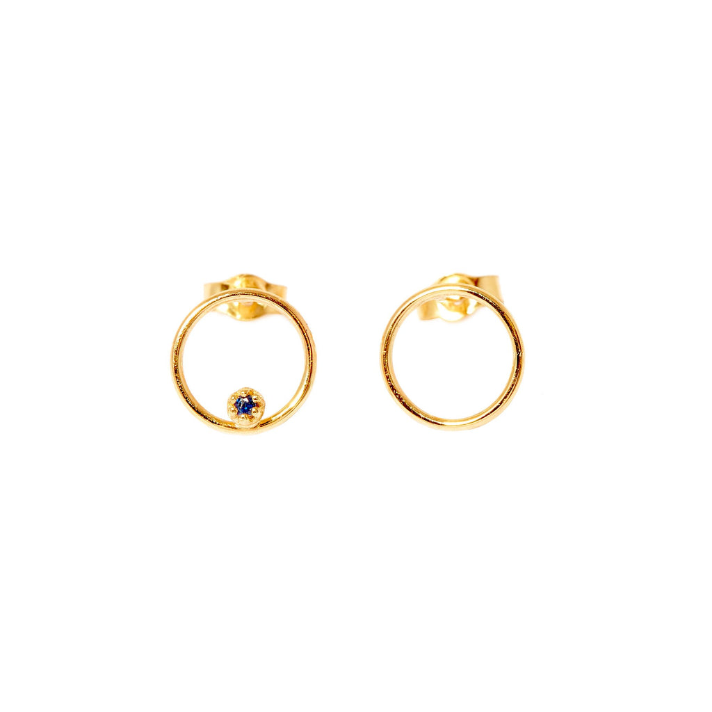 Stone Bubble Earrings (Gold)