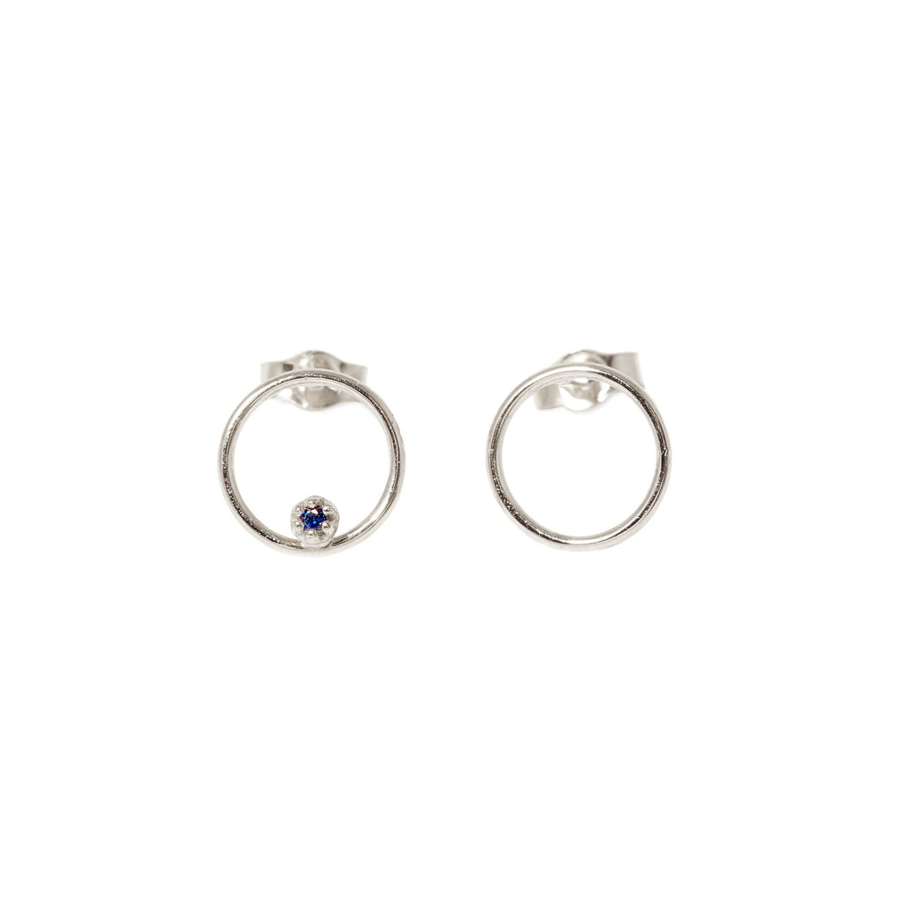 Stone Bubble Earrings (Silver)