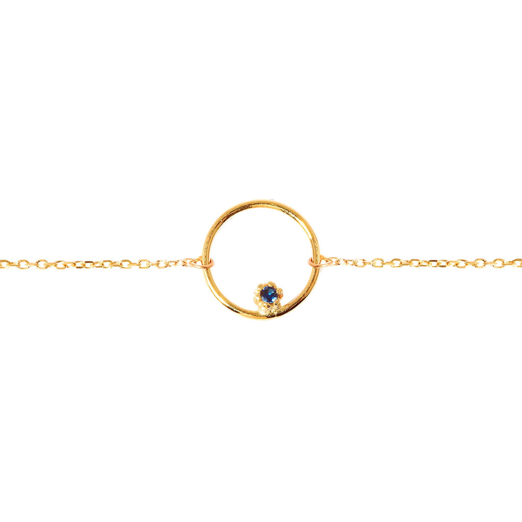 Stone Bubble Necklace (Gold)