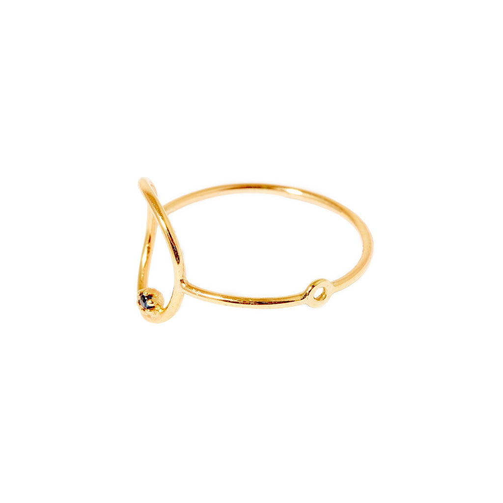 Stone Bubble Ring (Gold)