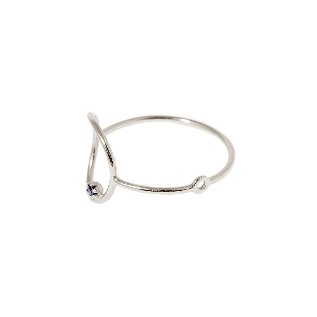 Stone Bubble Ring (Silver)