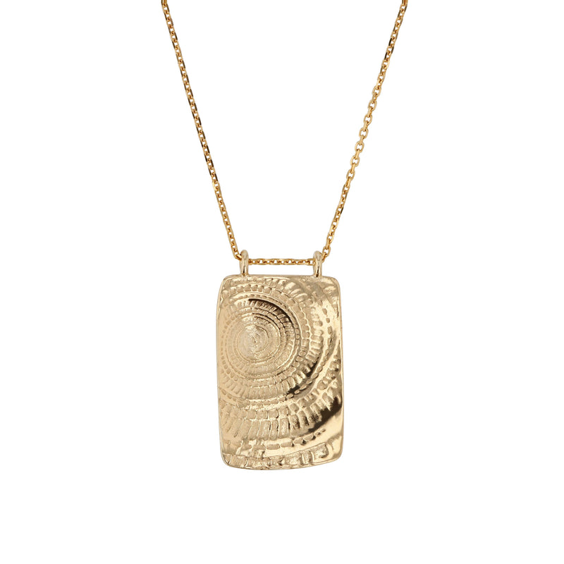 Sundial Necklace Yellow Gold | Sarah & Sebastian