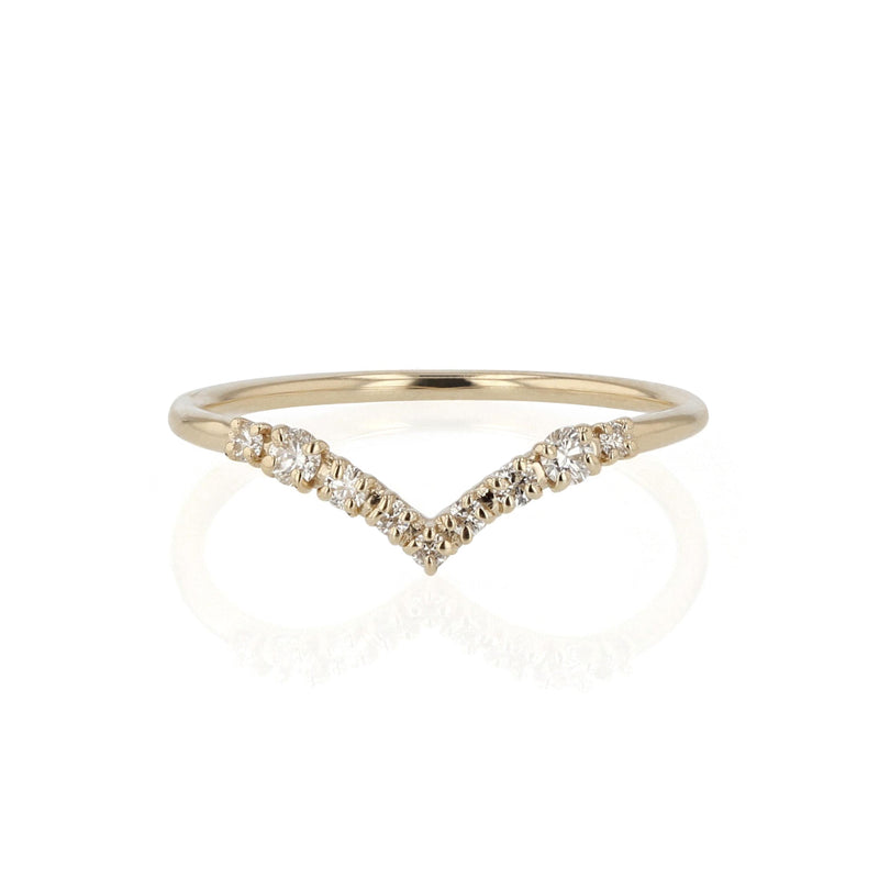 Salt Diamond Drop Ring Gold | Sarah & Sebastian