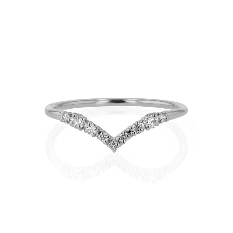 Salt Diamond Drop Ring White Gold | Sarah & Sebastian
