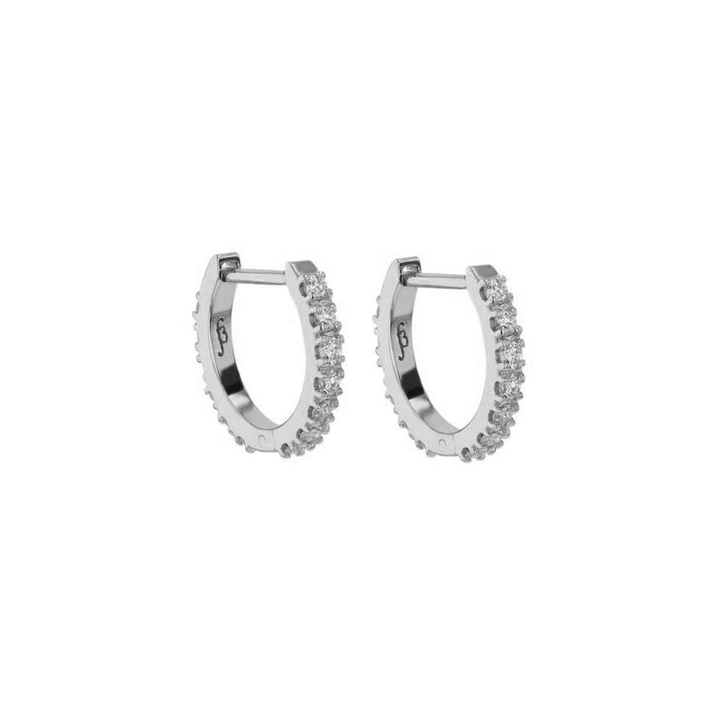 Diamond Salty Hoops White Gold | Sarah & Sebastian