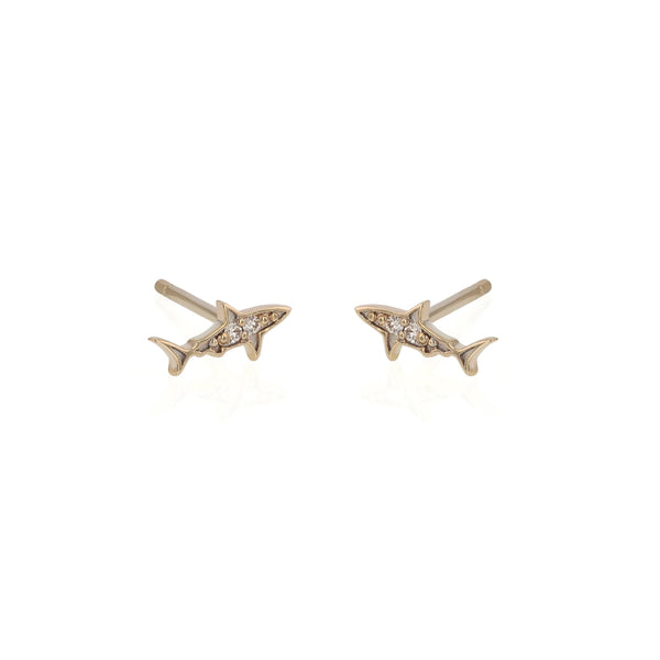 Shark Diamond Earrings