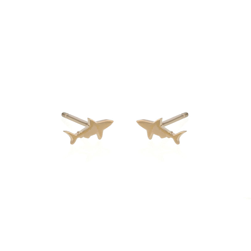 Shark Earrings Gold | Sarah & Sebastian