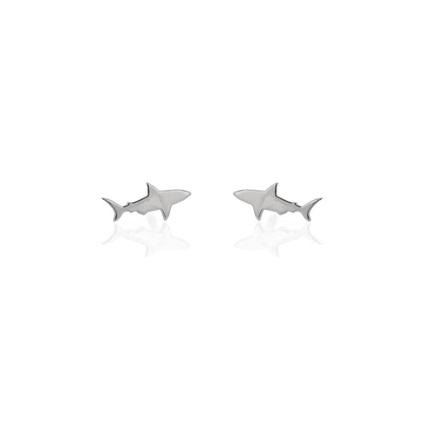 Shark Earrings Silver | Sarah & Sebastian