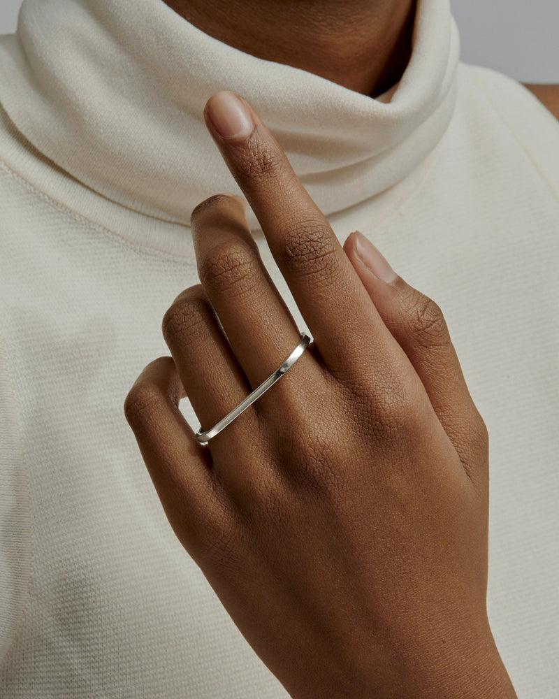 Solid Channel Two Finger Ring | Sarah & Sebastian onBody