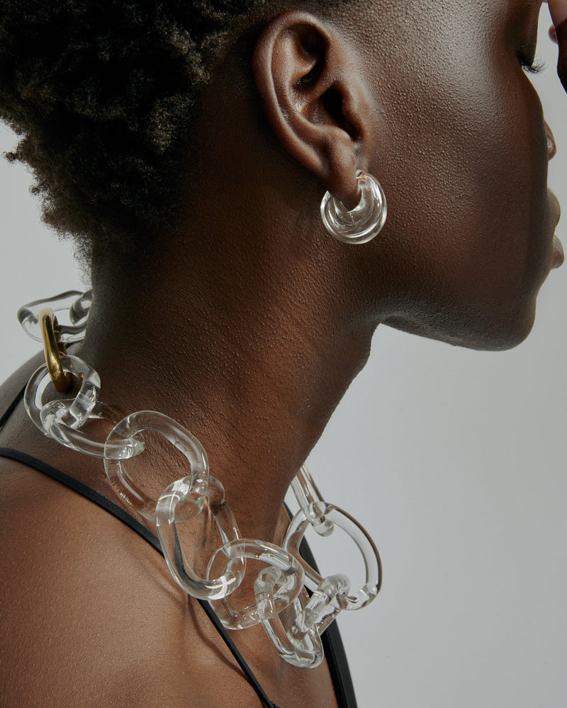 Statement Jelly Glass Chain Vermeil | Sarah & Sebastian onBody