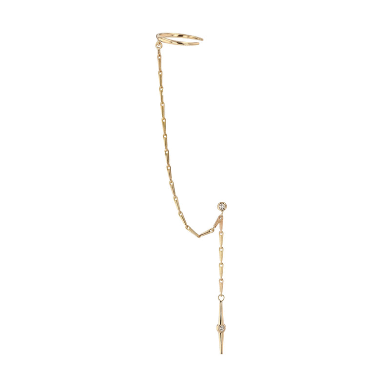 Stinger Diamond Chain Earring Gold | Sarah & Sebastian