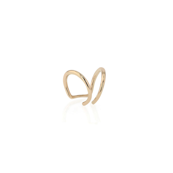 Statement Stinger Ear Cuff Gold | Sarah & Sebastian onBody