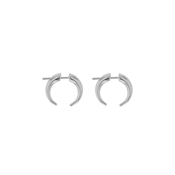Stinger Huggie Earrings Silver | Sarah & Sebastian