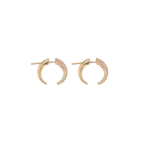 Stinger Diamond Pavé Earrings Gold | Sarah & Sebastian