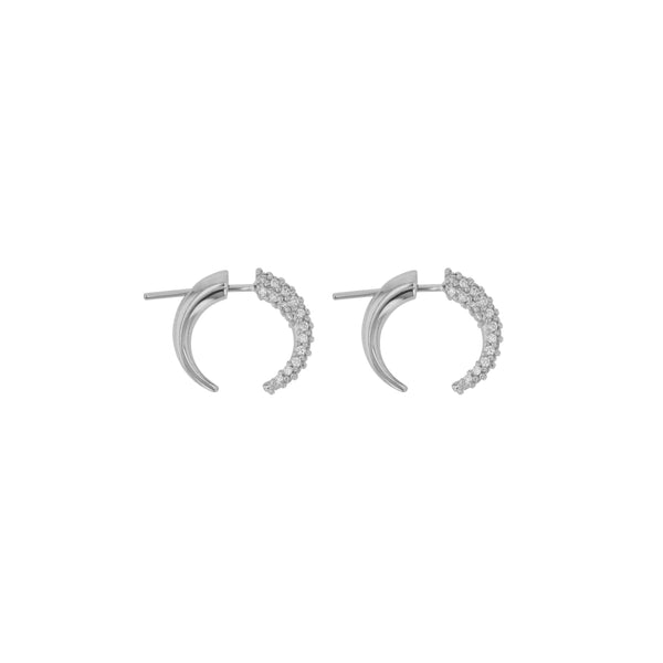 Stinger Diamond Pavé Earrings White Gold | Sarah & Sebastian