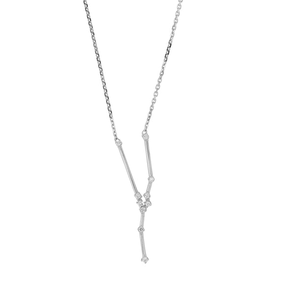 Celestial Taurus Necklace White Gold | Sarah & Sebastian