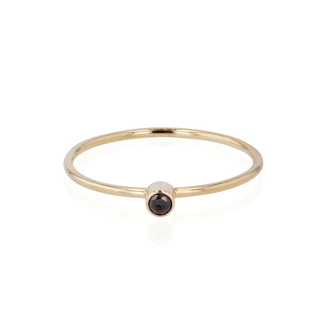 Tiny Black Diamond Ring