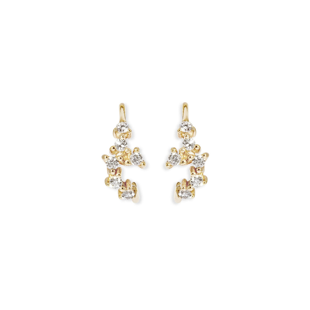 Tiny Cluster Diamond Hoops