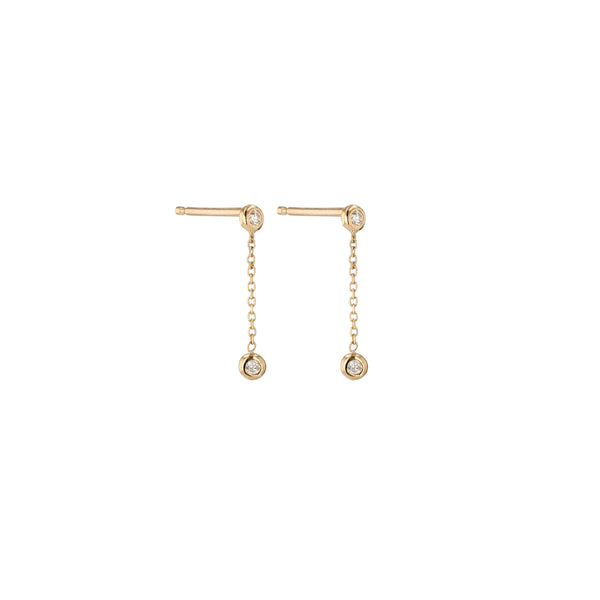 Tiny Lunette Diamond Earrings Gold | Sarah & Sebastian
