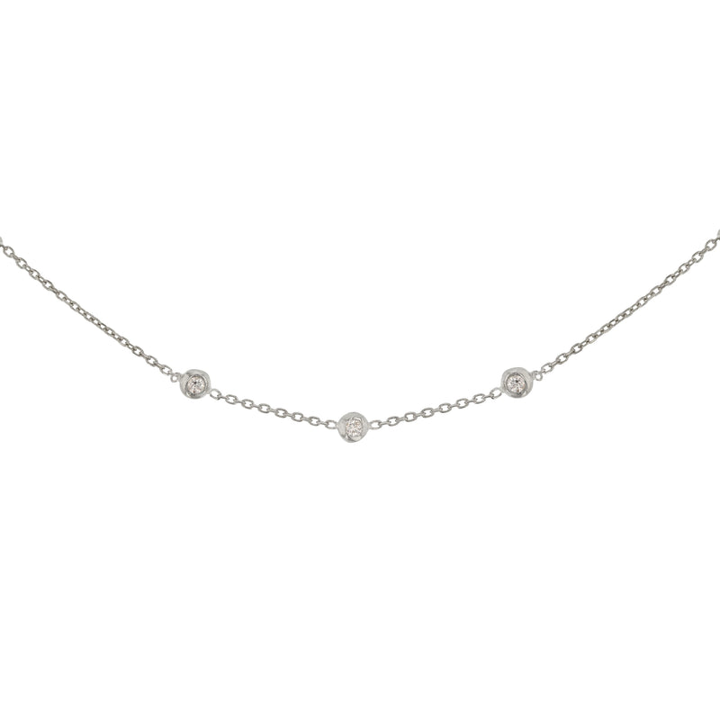 Tiny Lunette Necklace Silver | Sarah & Sebastian