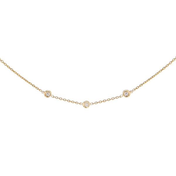 Tiny Lunette Necklace Gold | Sarah & Sebastian