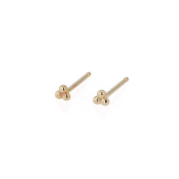 Trinity Stud Earrings Yellow Gold | Sarah & Sebastian