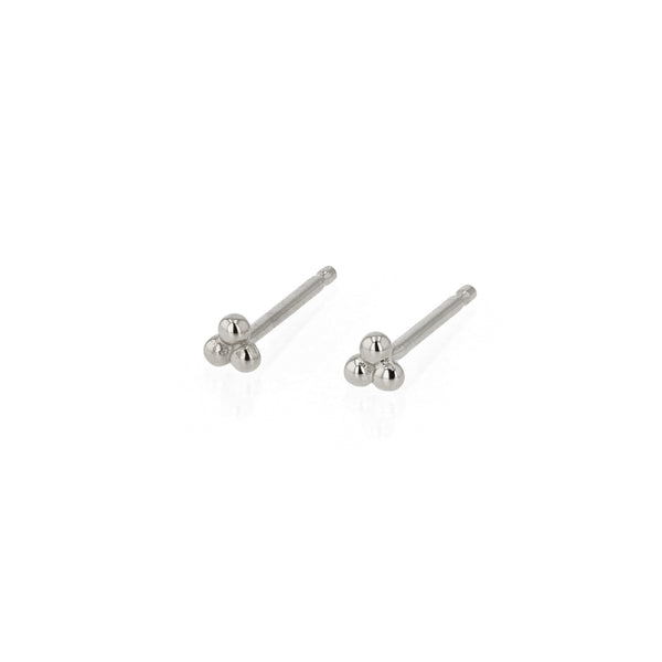 Trinity Stud Earrings Silver | Sarah & Sebastian