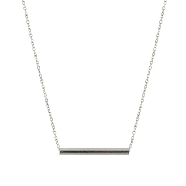 Tube Fine Chain Necklace Silver | SARAH & SEBASTIAN