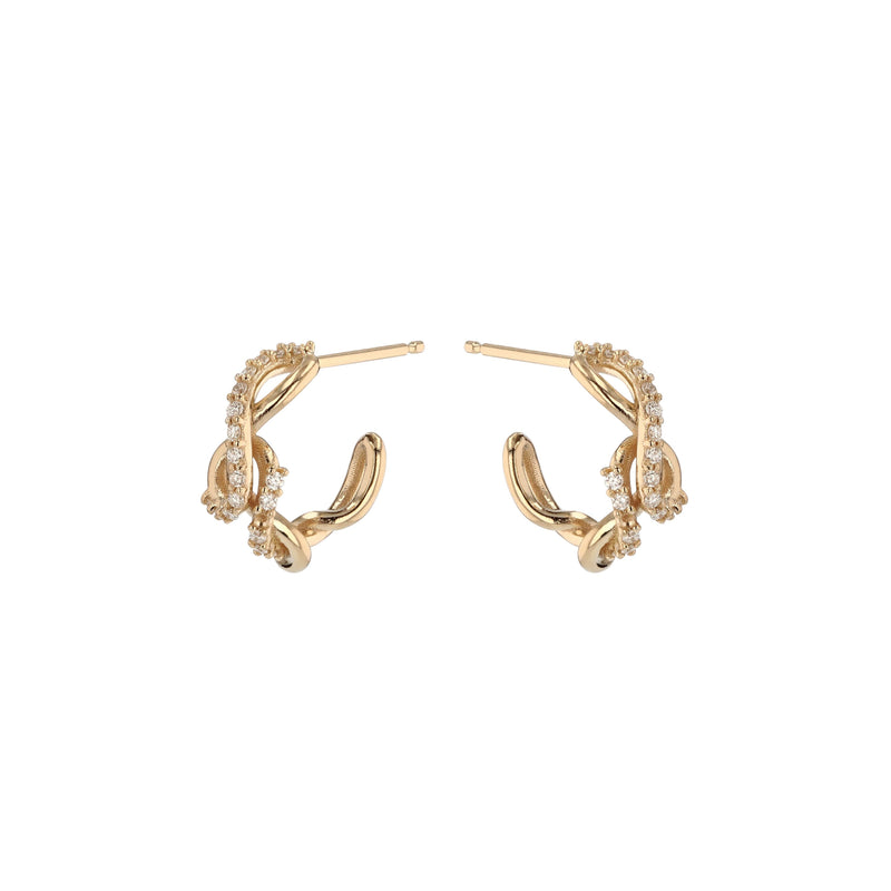 Fine Tendril Diamond Ring Gold | Sarah & Sebastian