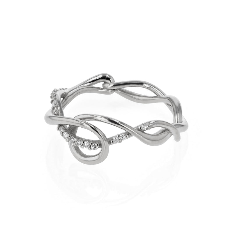 Fine Tendril Diamond Ring White Gold | Sarah & Sebastian