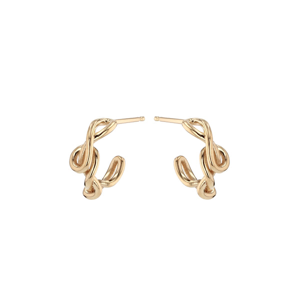 Fine Tendril Hoops Gold | Sarah & Sebastian