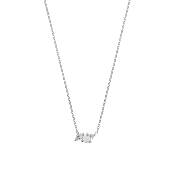 Tiny Chroma Opal Necklace White Gold | Sarah & Sebastian
