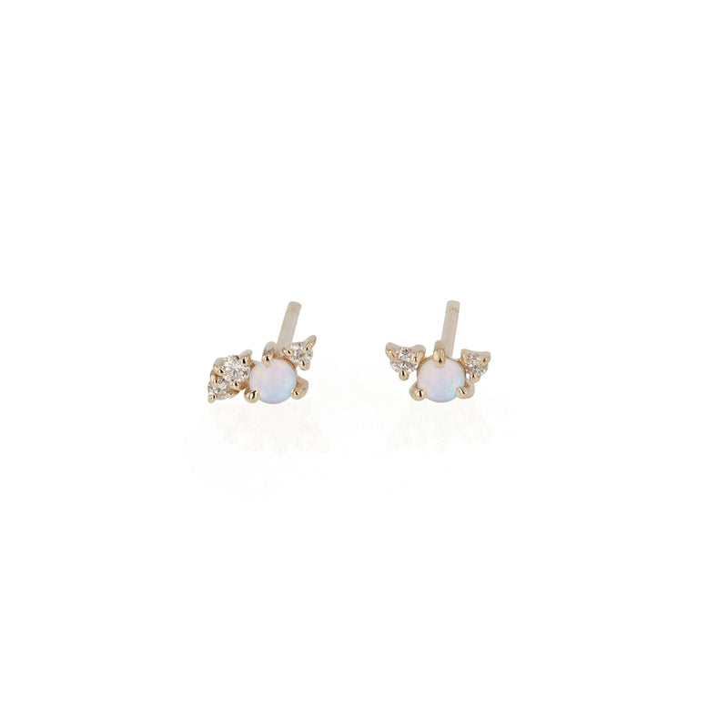 Tiny Chroma Opal Earrings Gold | Sarah & Sebastian
