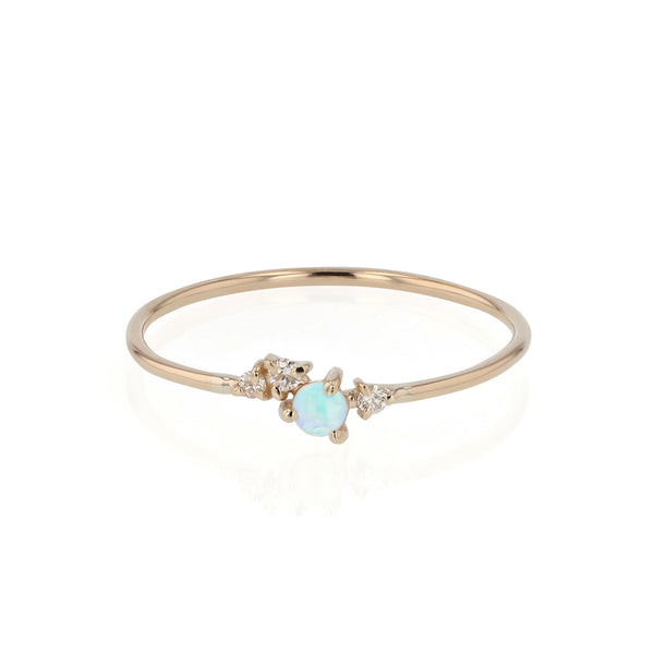 Tiny Chroma Opal Ring Gold | Sarah & Sebastian