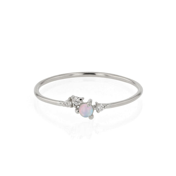 Tiny Chroma Opal Ring White Gold | Sarah & Sebastian