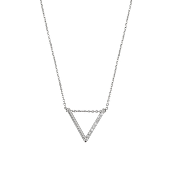 Triangle Diamond Thread Necklace