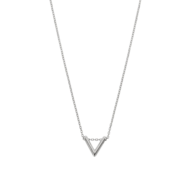 Triangle Thread Necklace White Gold | Sarah & Sebastian
