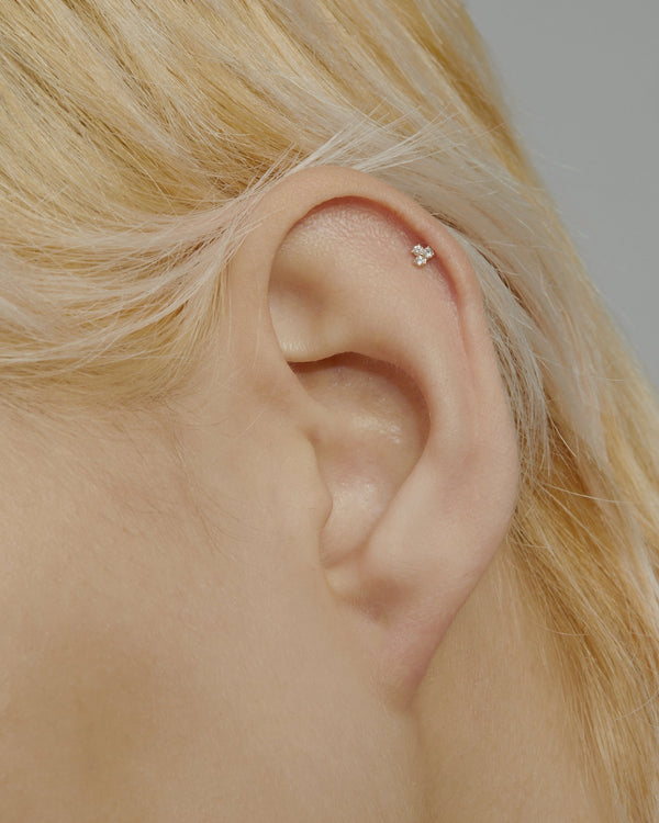 Trio Diamond Cartilage Earrings Gold | Sarah & Sebastian onBody
