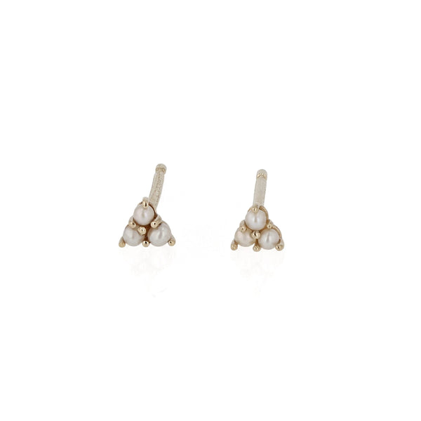 Fine Trio Pear Earrings Yellow Gold | Sarah & Sebastian