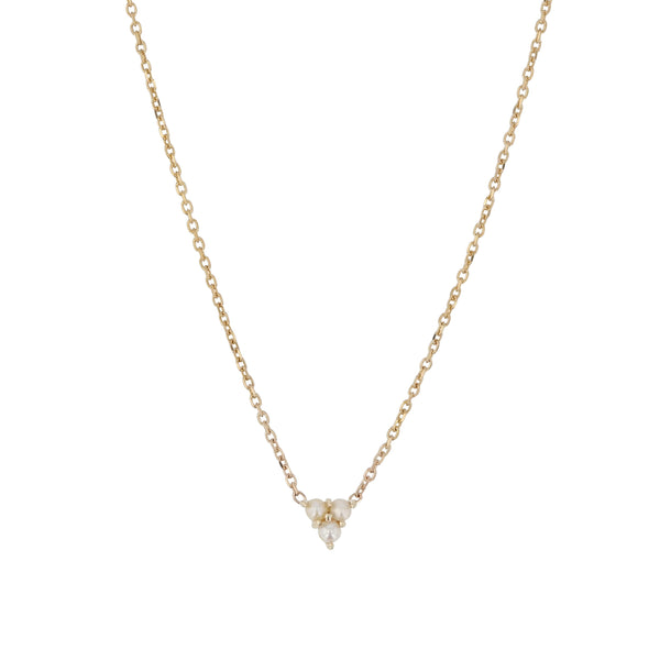 Trio Pearl Necklace Yellow Gold | Sarah & Sebastian