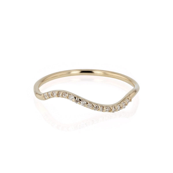 Fine Wave Diamond Ring Gold | Sarah & Sebastian