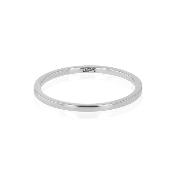 Wedding Band | Fine Square White Gold | Sarah & Sebastian