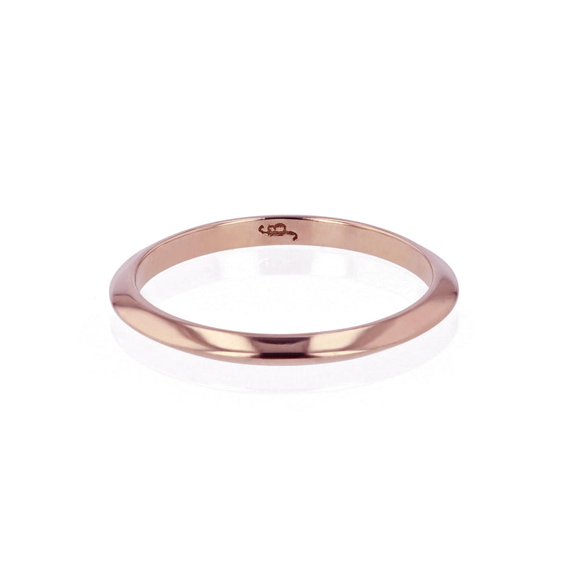 Wedding Band | Fine Knife Rose Gold | Sarah & Sebastian